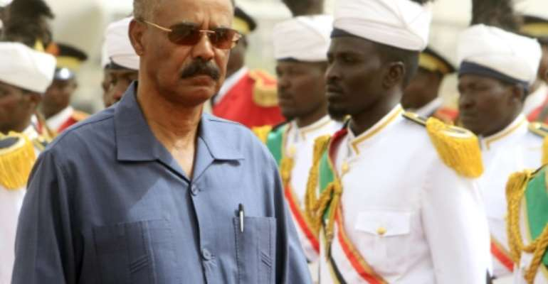 Authoritarian and austere, 69-year old Eritrean President Isaias Afwerki led one of Africa's most remarkable rebel armies in a bitter 30-year struggle against a far larger Ethiopian army.  By Ashraf Shazly (AFP/File)