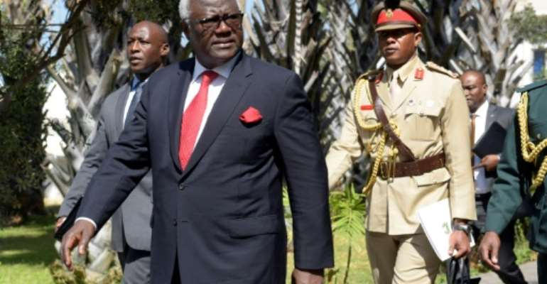 Ernest Bai Koroma was president of Sierra Leone from 2007 to 2018.  By SEYLLOU (AFP/File)