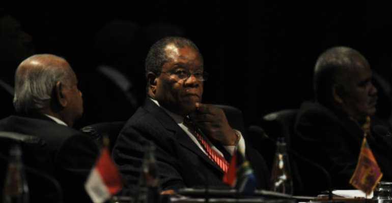 eSwatini's Prime Minister Barnabus Sibusiso Dlamini, pictured in 2009,has died at the age of 76.  By LUIS ACOSTA (AFP/Archives)