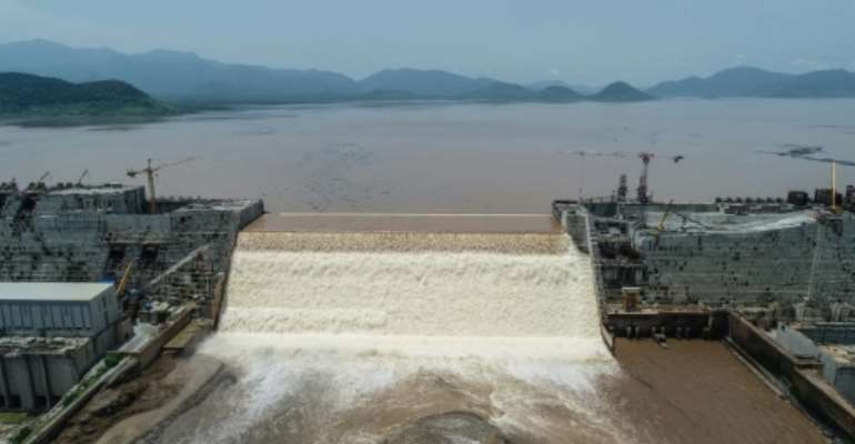 Ethiopia said on July 21 it had hit its first-year target for filling the Grand Ethiopian Renaissance Dam, a concrete colossus 145 metres (475 feet) high that has stoked tensions with downstream neighbours Egypt and Sudan.  By Yirga MENGISTU (Adwa Pictures/AFP)