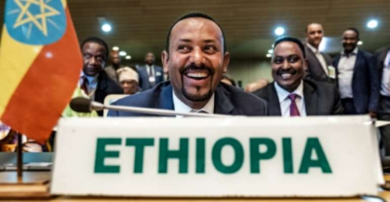 Ethiopia's Prime Minister Abiy Ahmed took office following the resignation of his predecessor Hailemariam Desalegn, after more than two years of anti-government protests.  By EDUARDO SOTERAS (AFP/File)