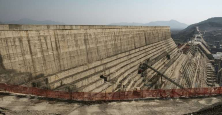 Ethiopia's Renaissance Dam in the Nile River has been met with vehement resistance from downstream Egypt and Sudan.  By EDUARDO SOTERAS (AFP/File)