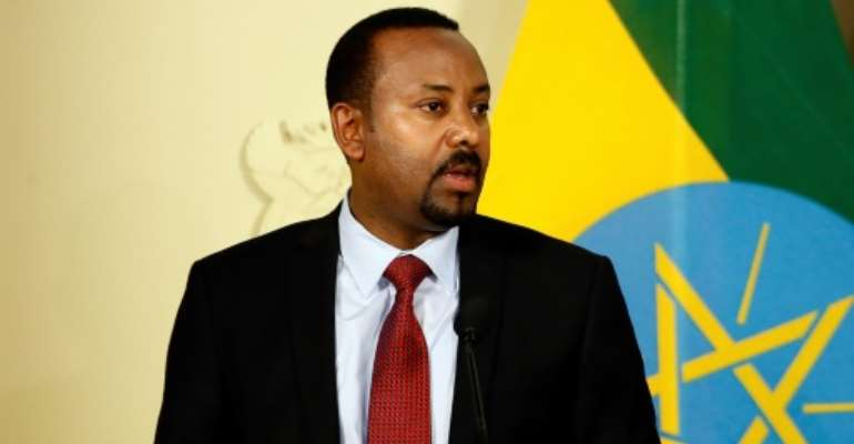 Ethnic tensions are a major challenge to Ethiopia's Nobel-winning premier, Abiy Ahmed.  By Phill Magakoe (AFP)