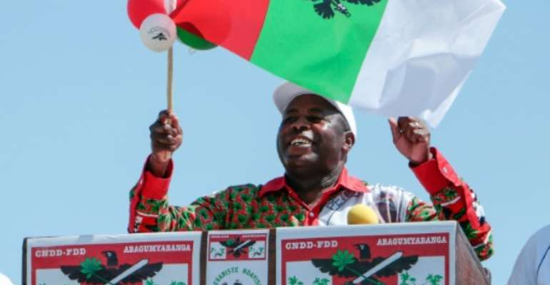 Evariste Ndayishimiye, seen here on the campaign trail, has been declared victor of Burundi's presidential elections.  By - (AFP)