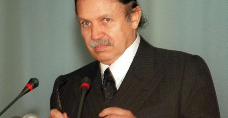 Ex-foreign minister Abdelaziz Bouteflika in February 1999, when he was a presidential candidate.  By  (AFP/File)