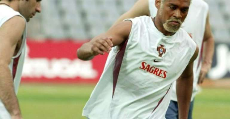 Mozambican-born Abel Xavier (pictured, right, in 2002) made 20 appearances for the Portuguese national team during his international career spanning nearly two decades.  By  (AFP/File)