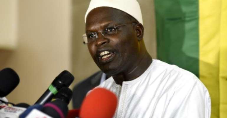 Ex-mayor of Dakar Khalifa Sall was released from prison three weeks ago.  By SEYLLOU (AFP)