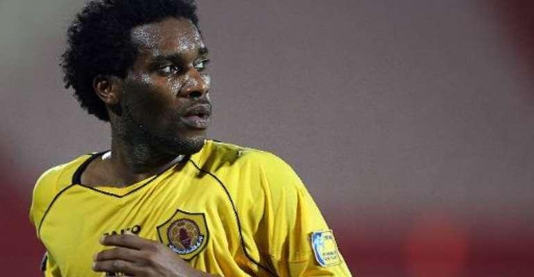 Nigerian player Jay-Jay Okocha pictured during Qatar club's championship match against Al-Khor club in Doha, on September 14, 2006.  By Karim Jaafar (AFP/File)