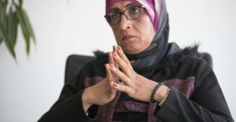 Farida Ramadan Ali, an Egyptian transgender woman in her fifties.  By Khaled DESOUKI (AFP)