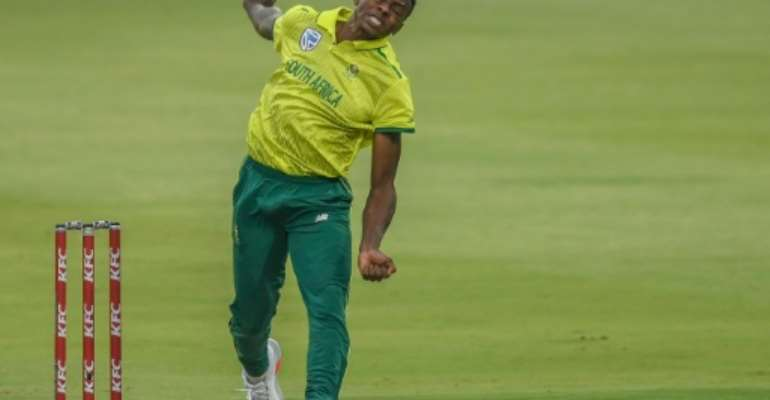 Fast bowler Kagiso Rabada says South Africa's bio-bubble in Cape Town is like a 'luxury prison'.  By Christiaan Kotze (AFP/File)