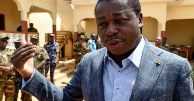Faure Gnassingbe took over as president in 2005 after the death of his father Gnassingbe Eyadema, who ruled for 38 years after seizing power in a coup.  By PIUS UTOMI EKPEI (AFP/File)