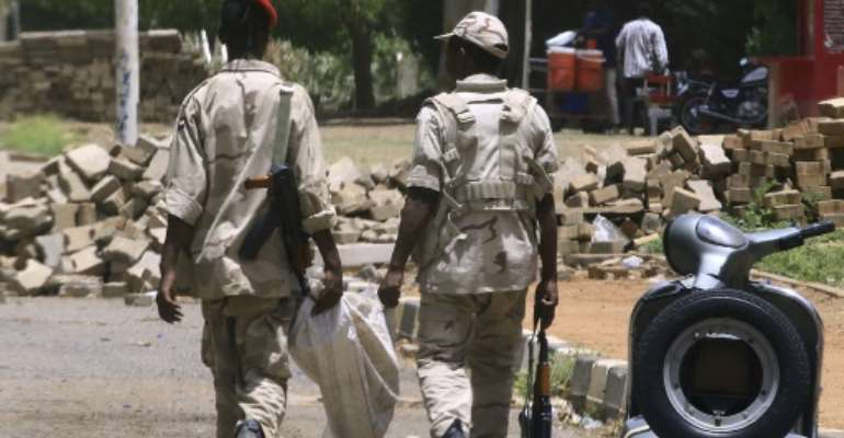 Fewer members of the paramilitary Rapid Support Forces were seen patrolling Khartoum than in previous days.  By - (AFP/File)