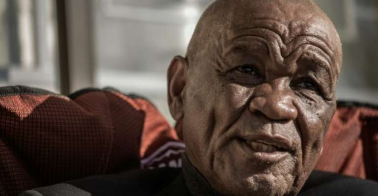 (FILES) In this 2017 file photo, former Lesotho PM and General Elections candidate Tom Thabane gives an interview to AFP; Thabane has been implicated in the assassination of his late estranged wife Lipolelo Thabane by police according to documents seen by AFP January 6, 2020.  By GIANLUIGI GUERCIA (AFP/File)