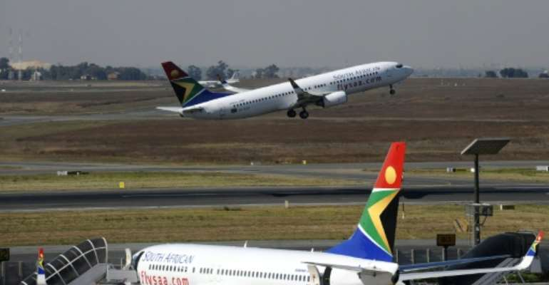 Financial reports for South African Airways presented to parliament last week -- some of them two years late -- painted a grim picture: in 2014-2015, the airline made a 4.7-billion rand ($330 million) loss.  By Gianluigi Guercia (AFP/File)