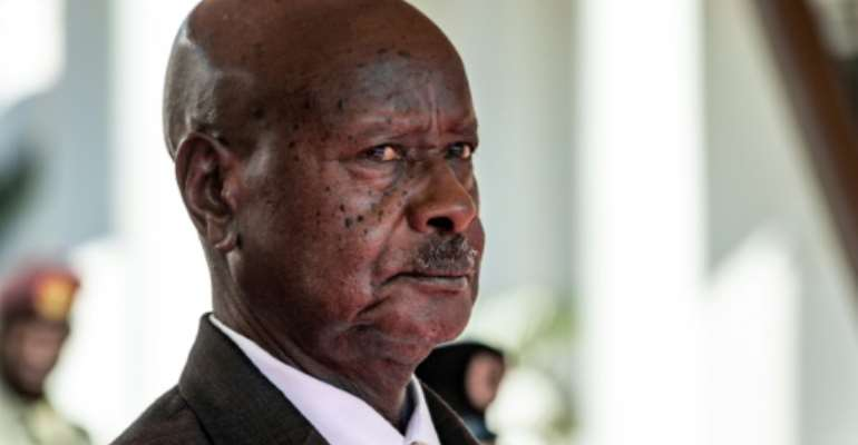 Fitness advice: Ugandan President Yoweri Museveni  (file picture).  By Sumy Sadurni (AFP/File)