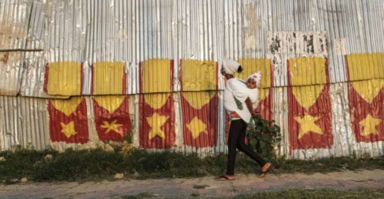 Flags: The city of Mekele prepares for the Tigray regional elections.  By EDUARDO SOTERAS (AFP)