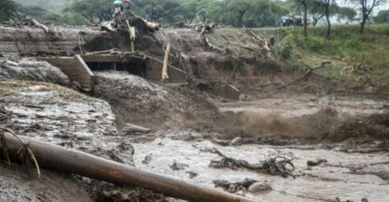Flooding in Kenya late last year. Similarly deadly rainfall has returned, killing 194 people, the government says.  By STRINGER (AFP/File)