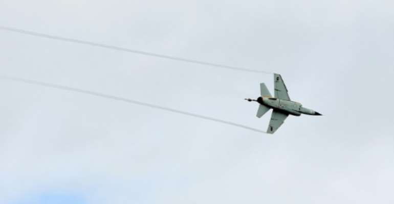 Forces loyal to Libyan strongman Khalifa Haftar claim they have shot down a Mirage F1 like the one pictured here over Tripoli on November 8, 2012.  By MAHMUD TURKIA (AFP/File)