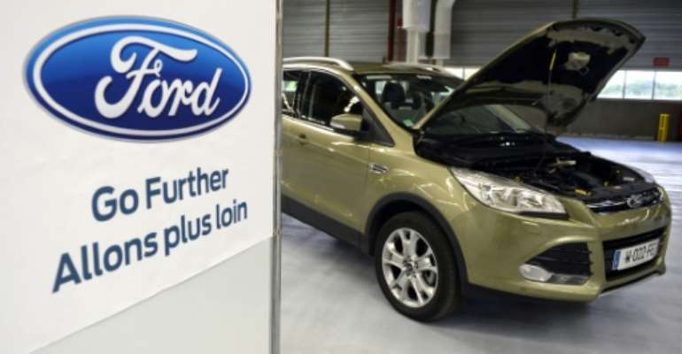 Ford started manufacturing the Ford Kuga in 2008.  By JEAN-PIERRE MULLER (AFP)
