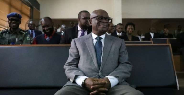 Former chief justice Walter Onnoghen was banned from holding office for 10 years in a case the opposition said was politically motivated.  By Kola Sulaimon (AFP)