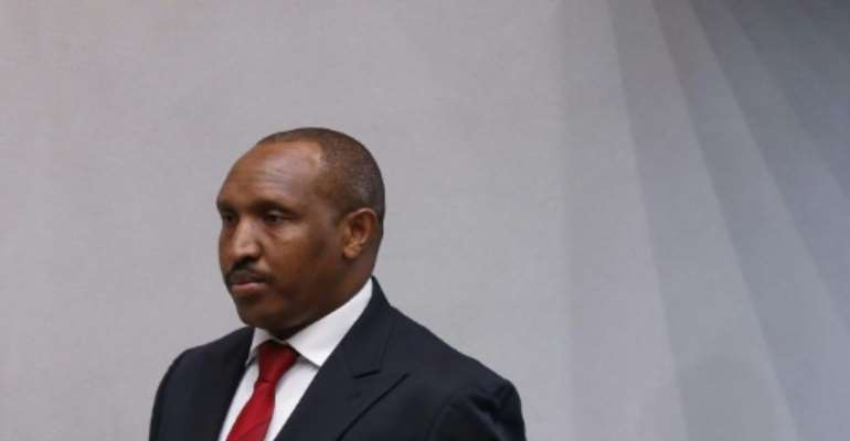 Former Congolese warlord Bosco Ntaganda arrives for the verdict.  By EVA PLEVIER (ANP/AFP)