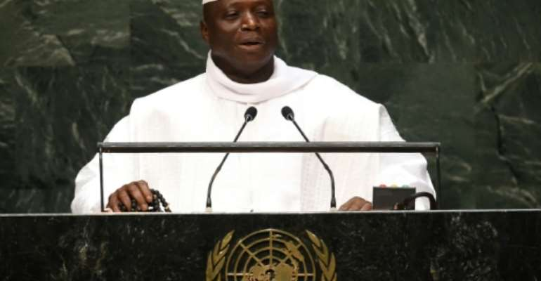 Former Gambian president Yahya Jammeh ruled the country for 22 years.  By DON EMMERT (AFP/File)