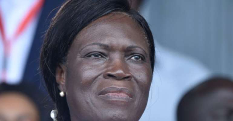 Former Ivory Coast first lady Simone Gbagbo (pictured September 2019) called for a postponement of October 31, 2020 elections in Ivory Coast that have seen tensions run high.  By SIA KAMBOU (AFP/File)