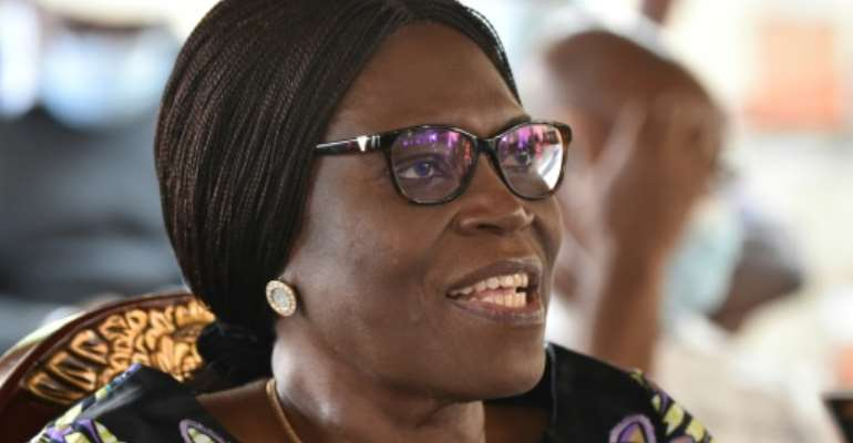 Former Ivory Coast first lady Simone Gbagbo, seen here in August 2020, faced charges of crimes against humanity following her husband's refusal to hand over power to Alassane Ouattara, who won a 2010 election.  By SIA KAMBOU (AFP/File)