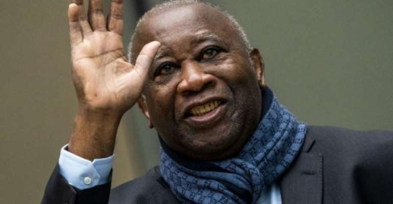 Former Ivory Coast President Laurent Gbagbo still has a strong following at home.  By Jerry LAMPEN (ANP/AFP)
