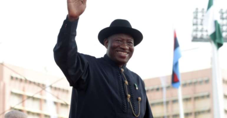 Former Nigeria President Goodluck Jonathan has been cited in several corruption cases but is not thought to have been formally questioned.  By Pius UTOMI EKPEI (AFP/File)