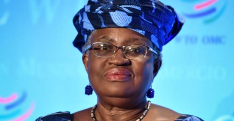 Former Nigerian finance and foreign minister Ngozi Okonjo-Iweala says she's keeping positive for her bid to lead the WTO.  By Fabrice COFFRINI (AFP/File)