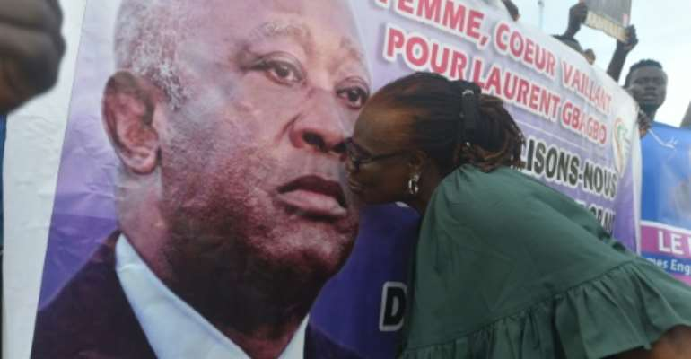 Former president Laurent Gbagbo still inspires fierce loyalty among his supporters.  By SIA KAMBOU (AFP/File)
