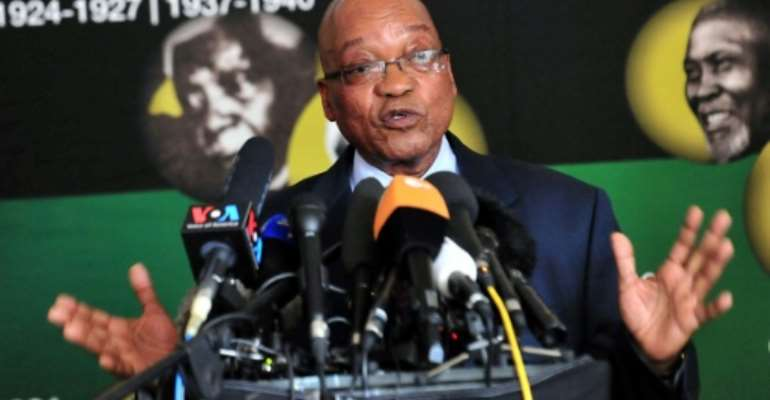 Former South African president Jacob Zuma was forced to resign by the ruling ANC party last year.  By STRINGER (AFP/File)