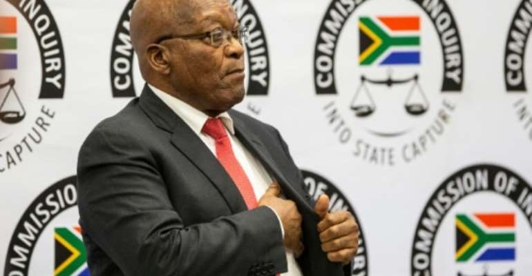 Former South African president Jacob Zuma went before a commission of inquiry that has sat for 133 days so far.  By WIKUS DE WET (POOL/AFP)