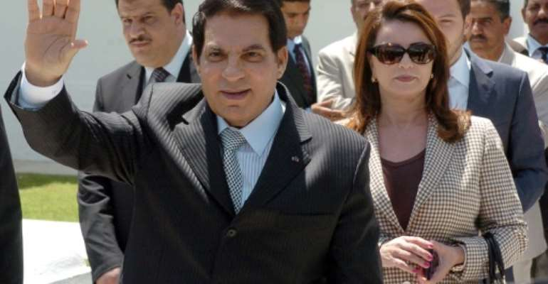 Former Tunisian president Zine El Abidine Ben Ali is survived by his wife Leila Trabelsi and six children.  By Fethi Belaid (AFP/File)