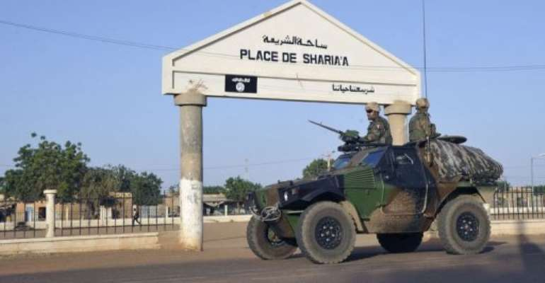 French troops patrol in Gao on February 4, 2013.  By Sia Kambou (AFP)