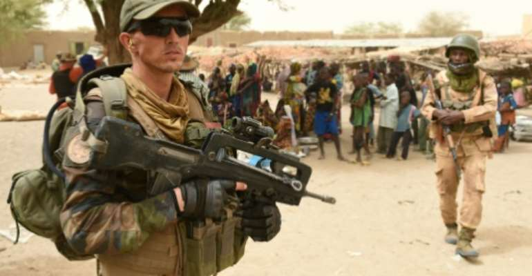 France established a military presence in the Sahel nation in January 2013 to combat Islamists which had overrun key northern cities.  By Philippe Desmazes (AFP/File)