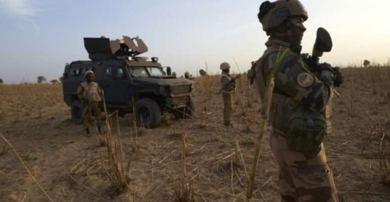France has deployed more than 5,000 troops in its Barkhane anti-jihadist force in West Africa.  By MICHELE CATTANI (AFP/File)