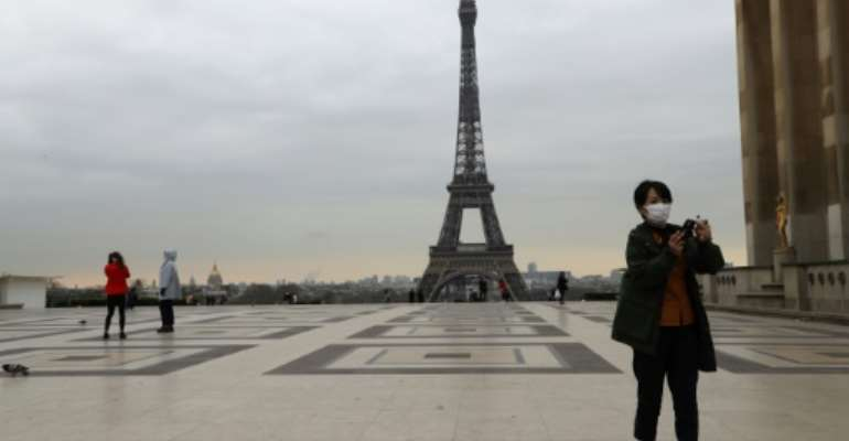 France has ordered most people to stay home from midday Tuesday.  By Ludovic Marin (AFP)