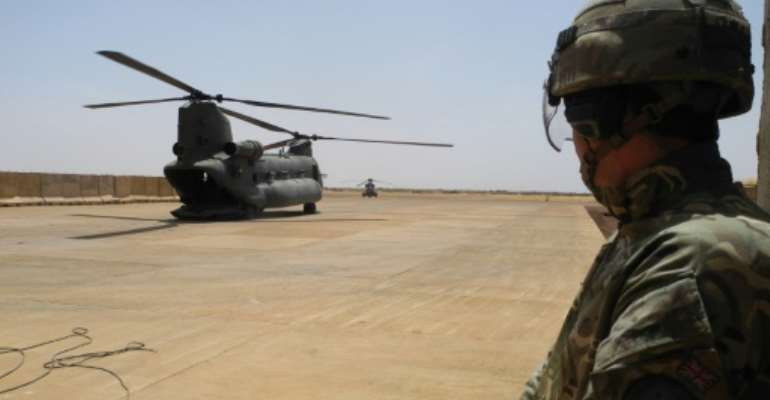 France has praised the RAF Chinooks for their ability to fly troops and equipment to frontline positions, avoiding Mali's perilous roads.  By Daphné BENOIT (AFP)