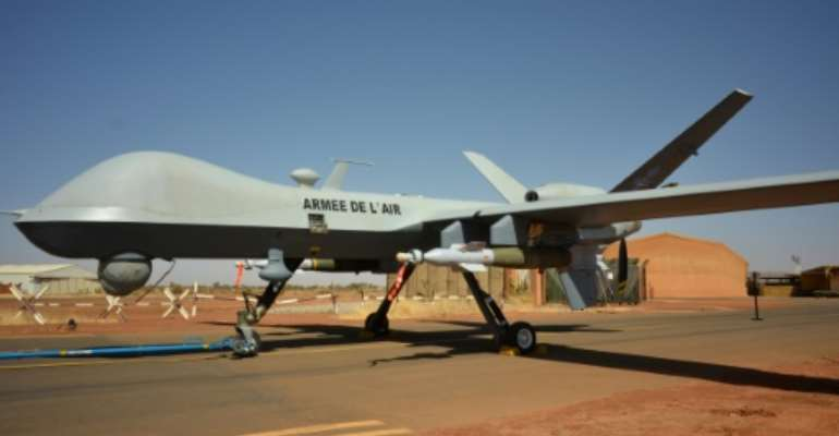 France has used armed drones as part of its deployment in the Sahel.  By Daphné BENOIT (AFP/File)