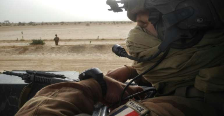France is hoping its troops will be able to bear less of the load in the Sahel in future.  By Daphné BENOIT (AFP/File)