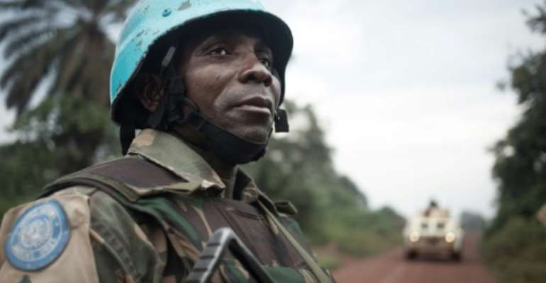 France, Russia and the United States are struggling to overcome differences at the UN Security Council on renewing the mandate of the MINUSCA peacekeeping force in the Central African Republic.  By FLORENT VERGNES (AFP/File)