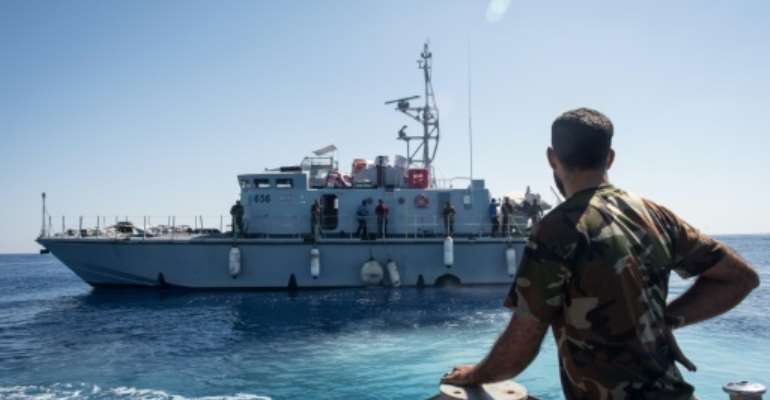 France's defence minister said the donation of six boats was to help the Libyan coastguard