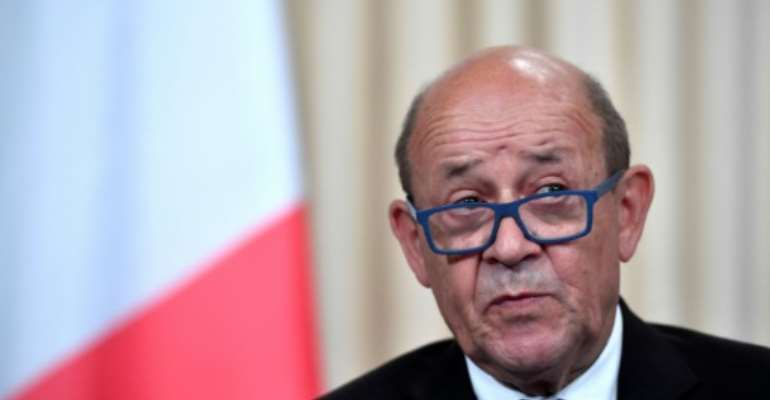 French Foreign Minister Jean-Yves Le Drian is the first top diplomat from France to visit Sudan in a decade.  By Alexander NEMENOV (AFP/File)