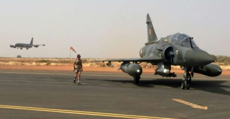 French military headquarters said fighter jets had