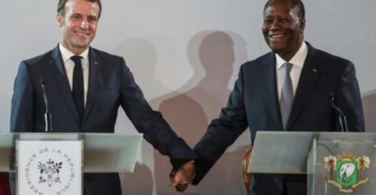 French President Emmanuel Macron accused Russia and Turkey of stoking anti-French sentiment in Africa.  By ludovic MARIN (AFP/File)