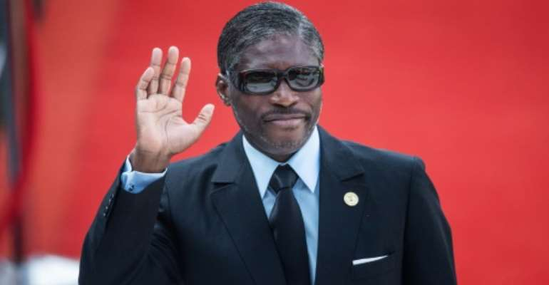 French prosecutors accused Teodorin Obiang of plundering tens of millions of dollars from the oil- and timber-rich African nation's coffers to fund his jetset lifestyle in France.  By Michele Spatari (AFP)