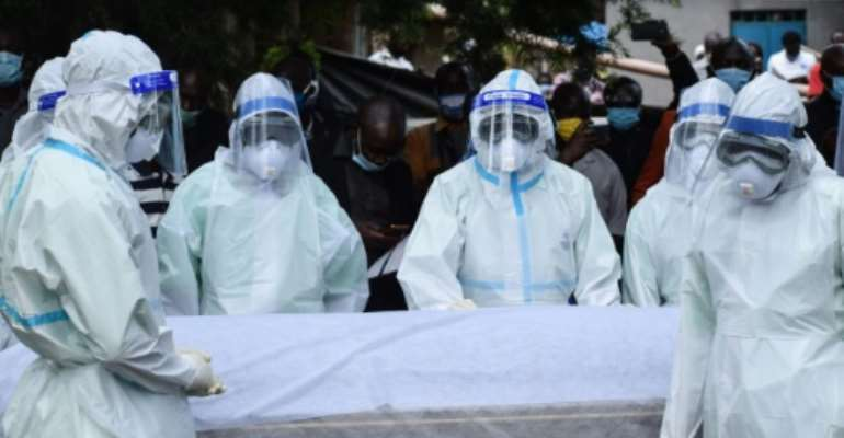 Frontline health workers have been among those killed by the coronavirus in Kenya.  By Brian ONGORO (AFP)