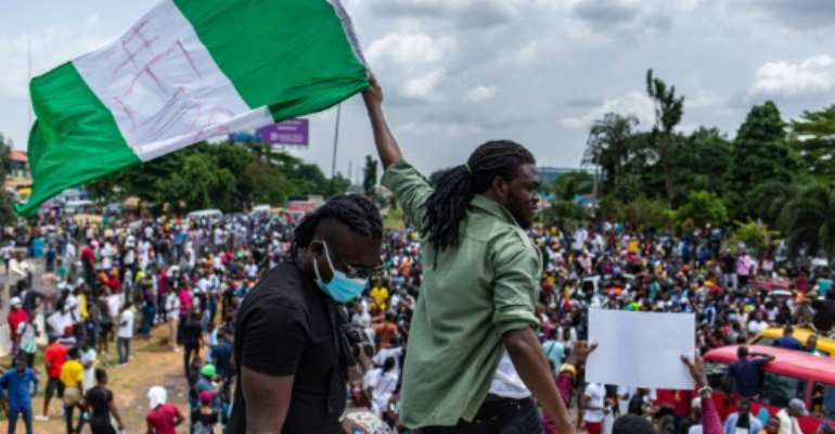 Frustration is running high among Nigeria's youth as they face the brunt of abuses as well as a lack of opportunities.  By Benson Ibeabuchi (AFP)